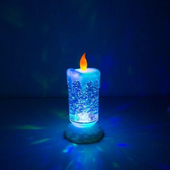 Färgglatt LED Ljus Med Glitter
