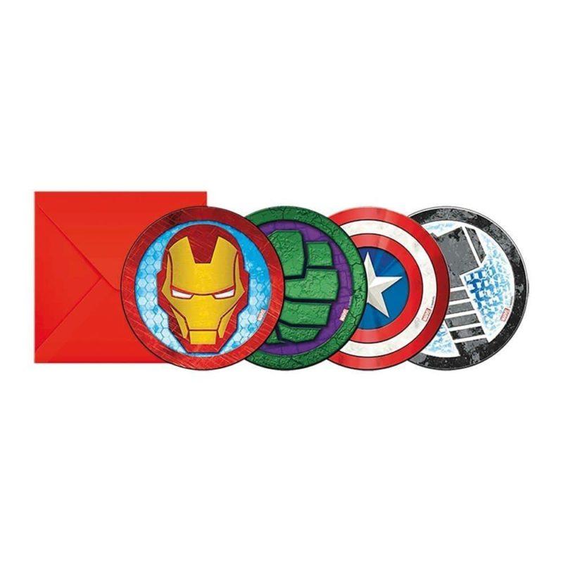 Inbjudningskort Avengers