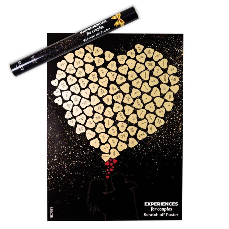 Skrapaffisch För Kärlekspar