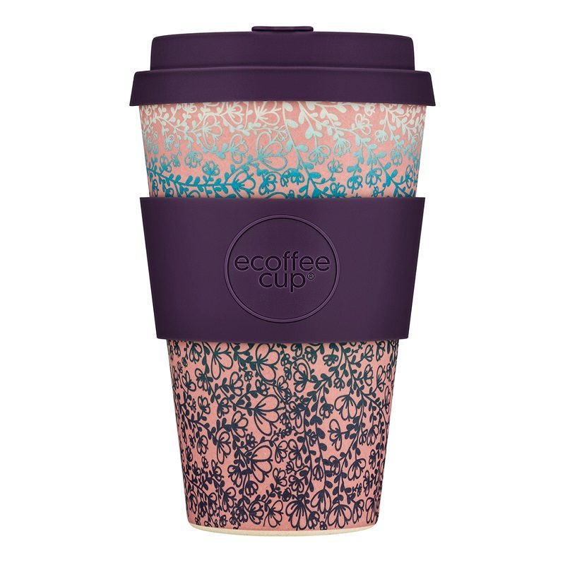 Ecoffee Take Away Mugg Lila Blommor