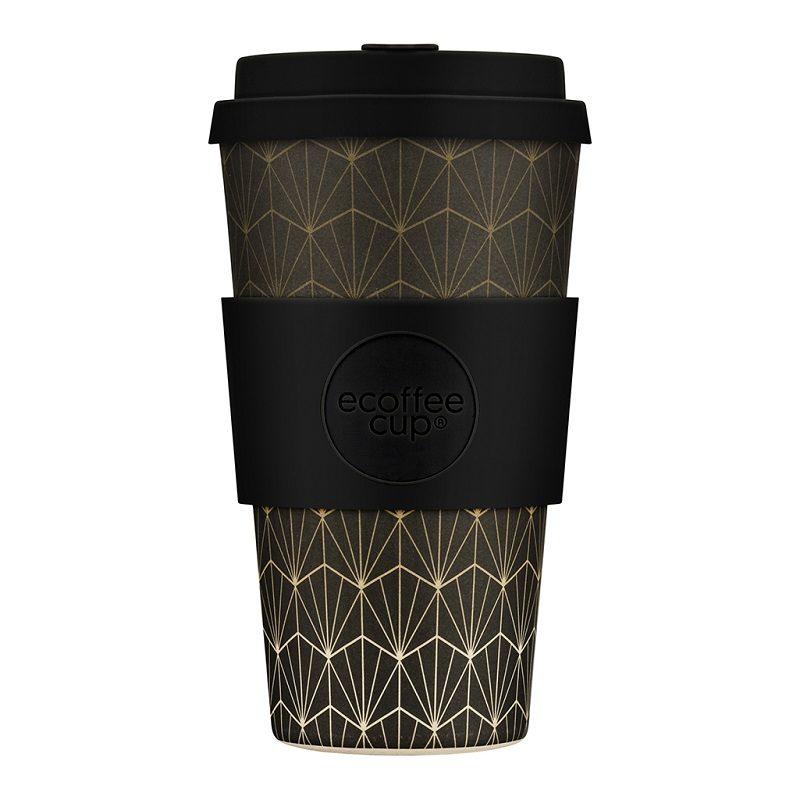 Ecoffee Take Away Mugg Svart Mönster
