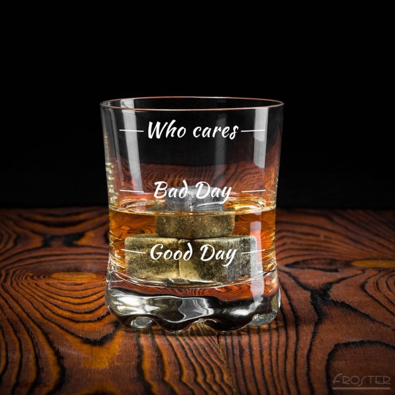 Whisky Glas Who Cares